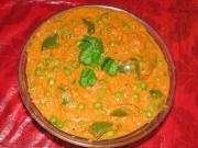 capsicum peas curry