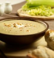 Celery Soup with Walnuts and Crème Fraîche by Johnnie Mountain