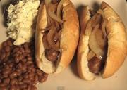 Grilled Elk Sausages