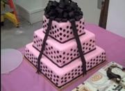 Pink Three Tier Cake Part 3  - Finalization