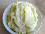 Mashed Potatoes with garlic & Parmesan Cheese