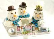 Cupcake Snowman