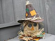 Scarecrow Centerpiece Recycled Craft