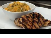Grilled Lemon-Basil Chicken and Mango Salsa