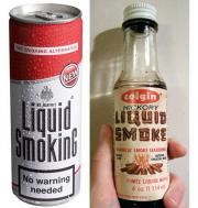 Liquid smoke used to preserve food and add flavoring