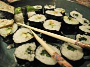 Raw Food Sushi with Eggplant and Asparagus