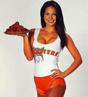 A Hooters Waitress