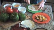 Fajitas with Shrimp, Pineapple and Veggies