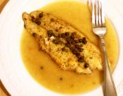 Tilapia In White Vermouth Sauce