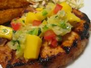 Pineapple Grilled Pork Chops With Fresh Mango Salsa