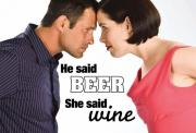 Wine is slightly more popular than beer
