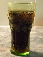 Coca cola soft drink in a glass