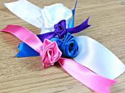 How to Make Christmas Ribbon Roses