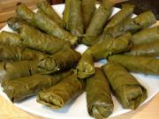 Vegetarian Stuffed Grape Leaves (Dolmades Yalantzi)