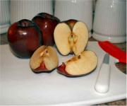 Brown apples are not eaten usually.