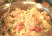 Vegetable Couscous in Chicken Stock