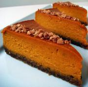 Kabocha Squash Cheesecake with Toasted Coconut Crust