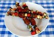 Smoked Vegetable and Antelope Kabobs