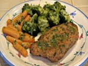SmokingPit.com - Pork Loin Chops in a Herb & Honey Mustard Butter Sauce - Cooked on the Yoder YS640