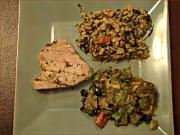 Ahi Tuna, Vegetable Brown Rice and Mixed Greens Salad