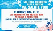 Veterans day is gonna be celebrated with fervor at Uno Chicago Grill