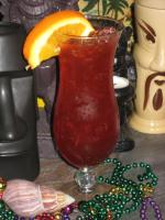 Mardi Gras Hurricane Cocktail