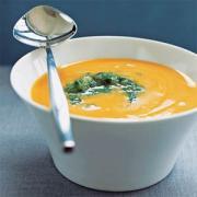 Fresh carrot soup for Thanksgiving