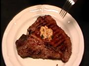 Grilled Steak with Kimchi Butter