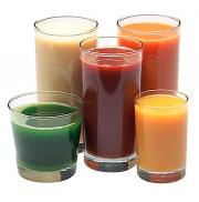 The healthy vegetable juices