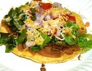 Microwave Beef Topped Tostadas