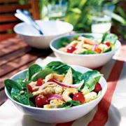 Chicken spinach salad - healthy meals for nursing mothers
