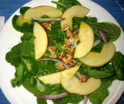 Savory Young & Tender Apple Spinach Salad