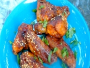 Thai Garlic Chili Wings and Red Shoe Martinis