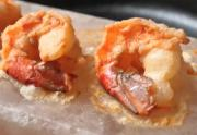 Shrimp Cooked On Himalayan Pink Salt
