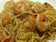 Christmas Eve Pasta: Lemon Pepper Shrimp Linguini (or Spaghetti)