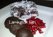 Dark Chocolate Lemington Cake