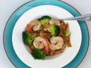 Pad See Ew - Rice Noodles with Broccoli and Shrimp