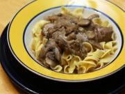 Pasta With Beef Steak Stroganoff