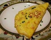 Puffy Chive Omelette