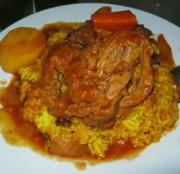 African Yellow Rice with Raisins