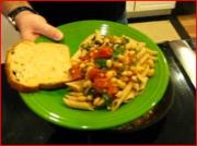 Spicy Penne Greens and Beans