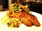 Classic Cumin Catfish with Citrus Avocado Salsa