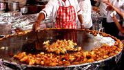 The Food Stalls in Delhi Ramlila Ground