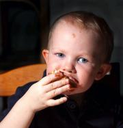 A child eating dessert - develop the habit early