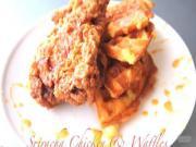 Sriracha Chicken & Waffles