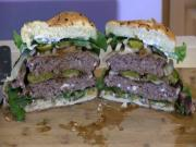 SmokingPit.com - Blue Cheese Mushroom & Swiss Buffalo Burger Santa Maria Grilled on the Scottsdale