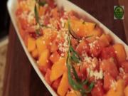 Melon Salad with Lime Tarragon Spritz and Feta Cheese