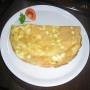 Microwave Cheese Omelet