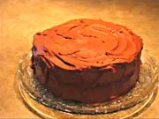Homemade Two Layer Chocolate Cake