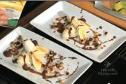 Bananas with Roasted Hazelnuts & Ganache